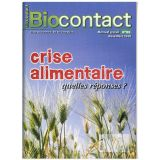 """Biocontact 185 """"Crise alimentaire : quelles réponses ?"""""""
